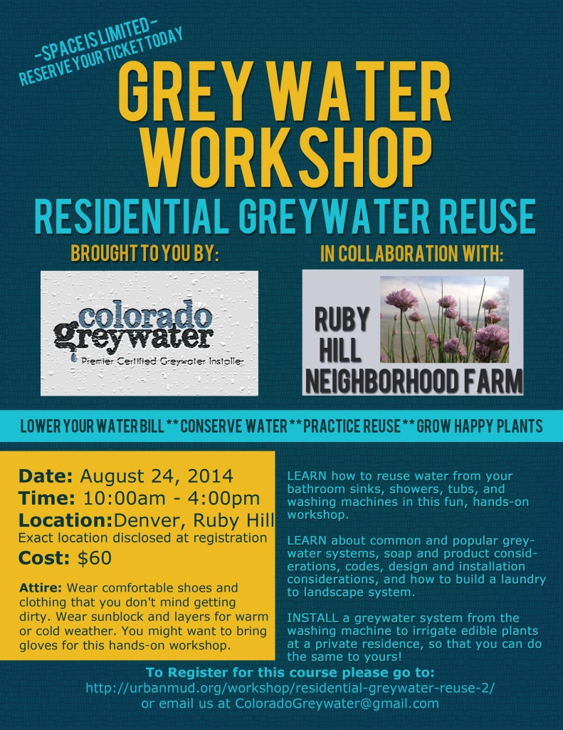 Greywater Workshop Ruby Hill 8-24