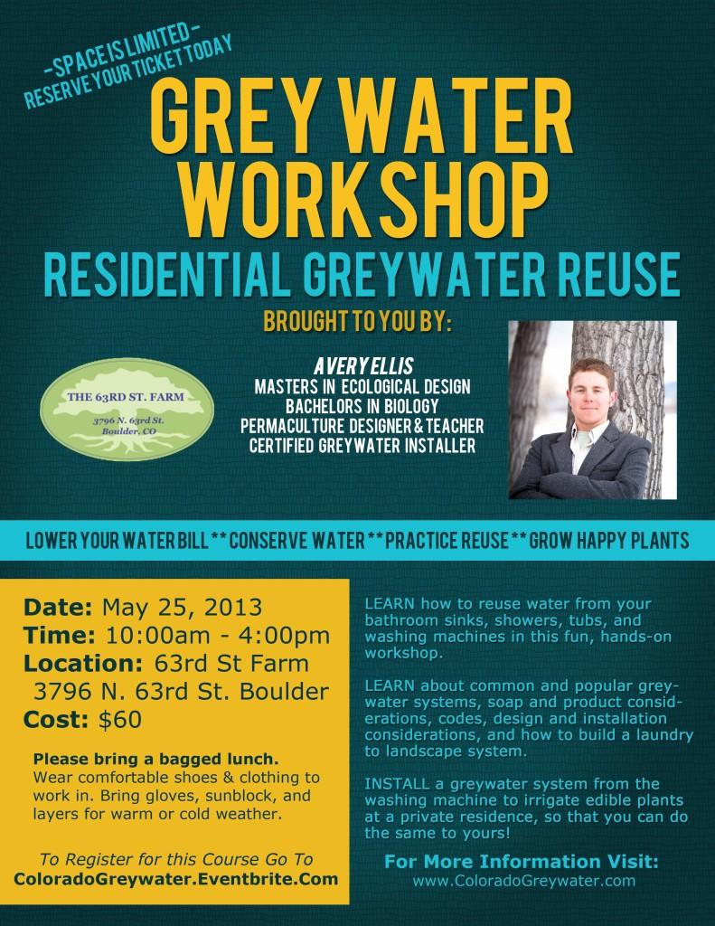 Greywater Workshop Flier